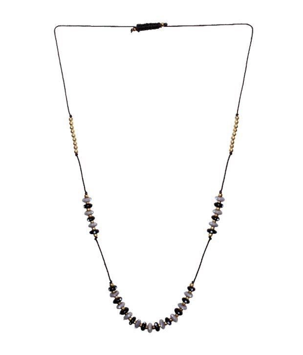 Safe Earth Black & Grey Beaded Necklace