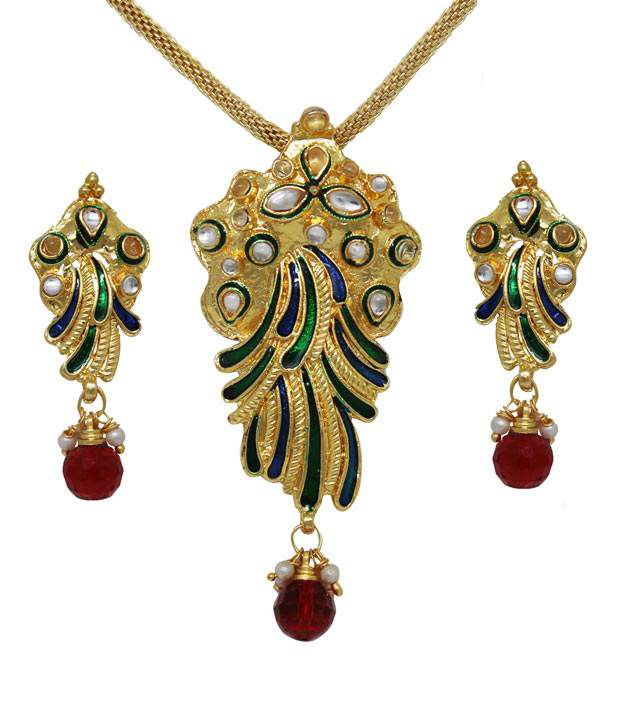 Sharnam Arts Ethnic Minakari Necklace Set