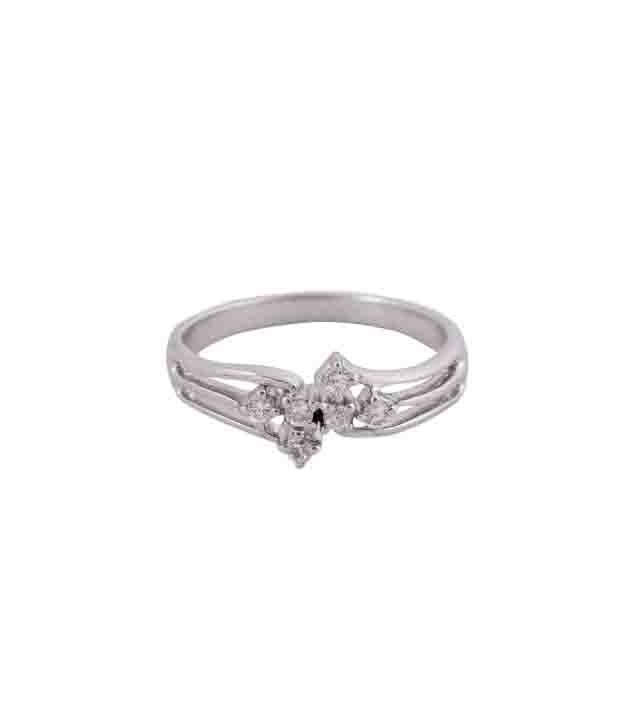 Silvera Graceful Sterling Silver CZ Ring
