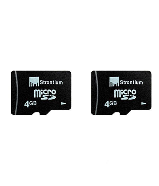 Strontium 4GB MicroSD Card + 4GB MicroSD Card