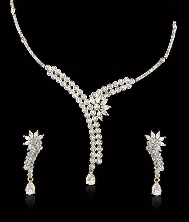 Sukkhi Flora Inspired CZ Necklace Set