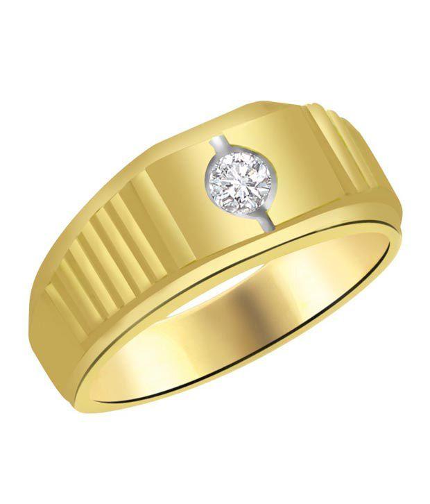 Surat Diamond Simple Gold & Diamond Mens Ring Buy Surat Diamond