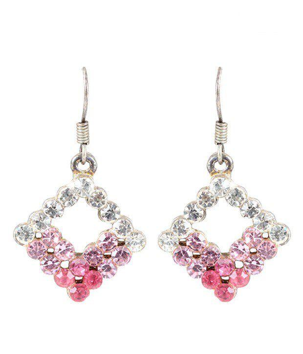 Vendee Exotic Pink Diamond Shaped Earrings