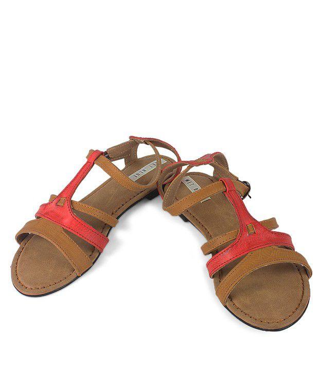 Wet Blue Distinct Brown Sandals