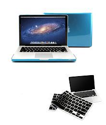 Pindia Blue Crystal Hard Case Cover For Apple MacBook Pro(13.3) With Keyboard Cover
