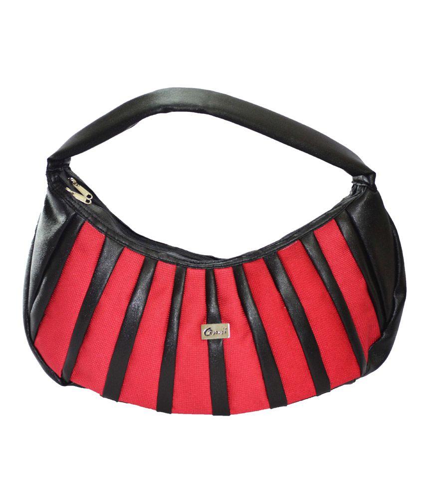 JGShoppe Gleam & Glint Red & Black Handbag