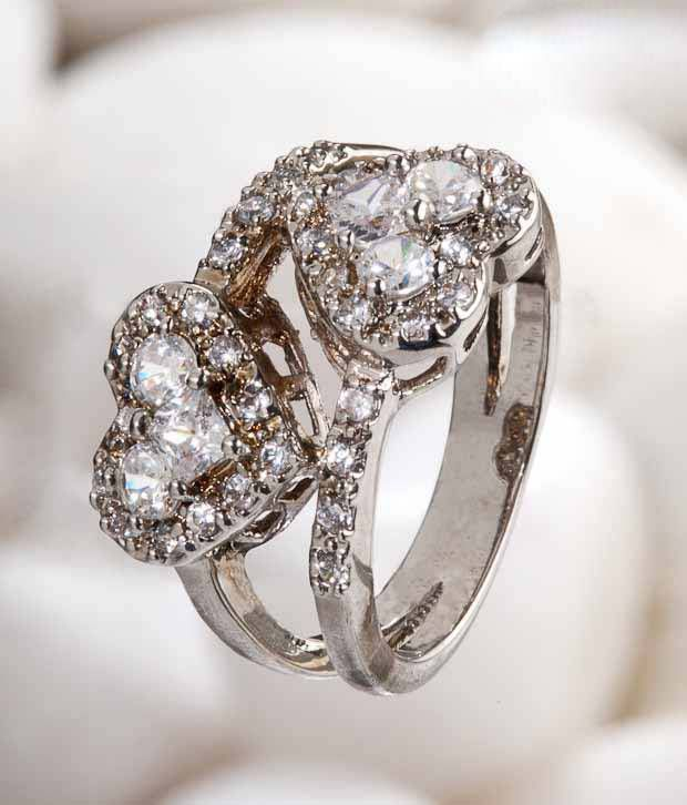 Jazz Hearty Crystal Ring