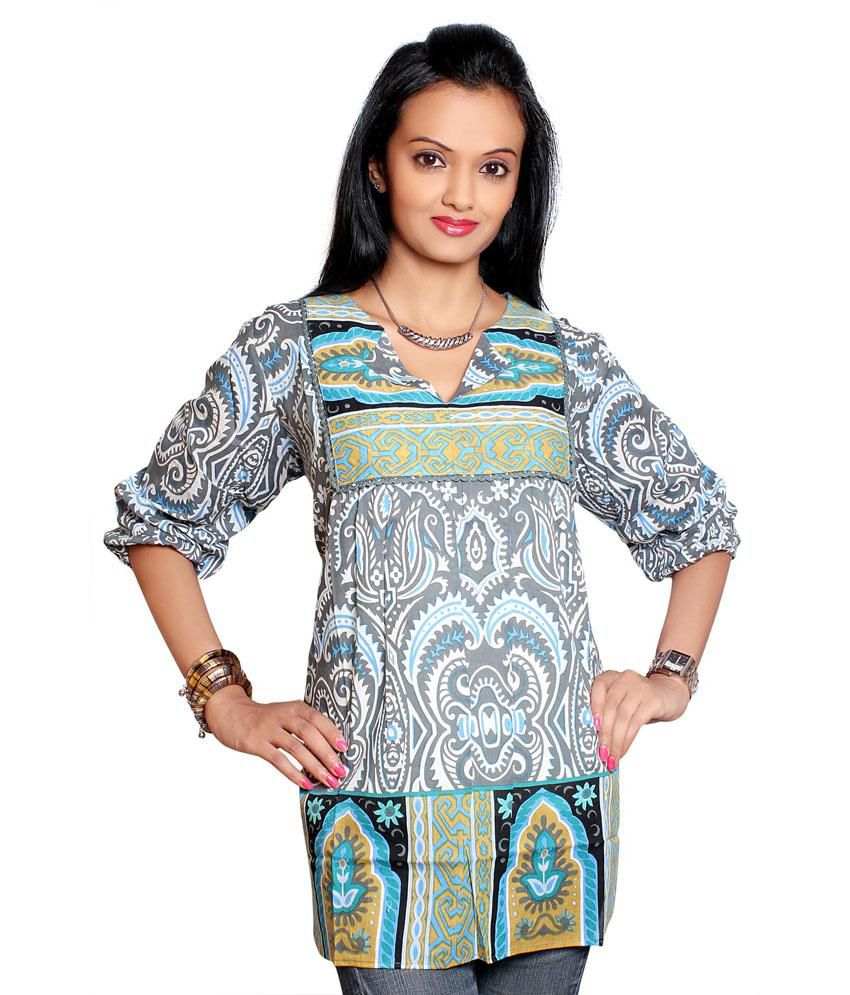 Vivante Striking Cotton Printed Kurti