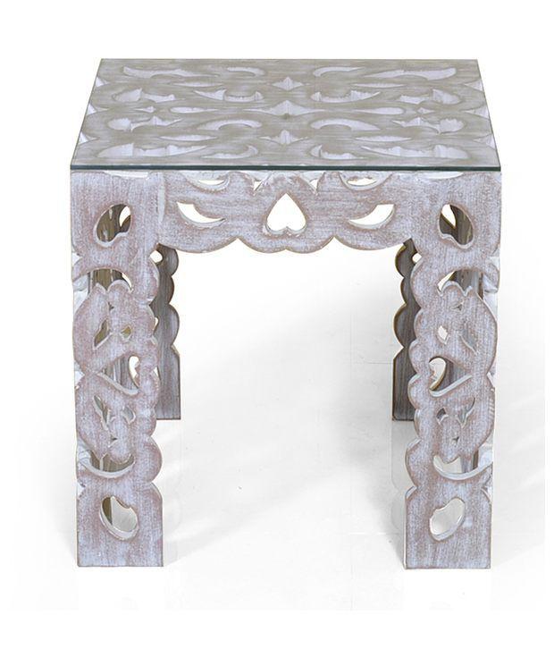 Alvin Side Table White