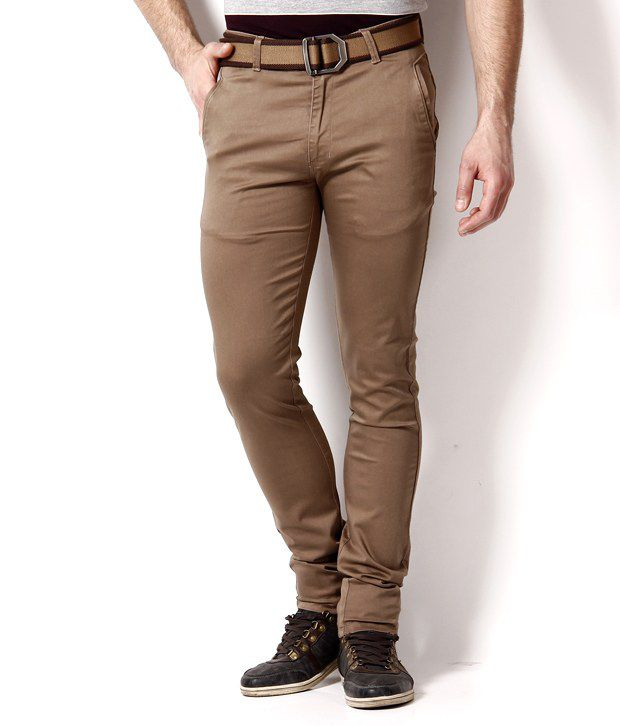 British Terminal Brown Slim Fit Chinos