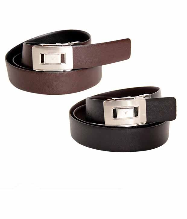 Bulchee Gleaming Black & Brown Reversible Belt
