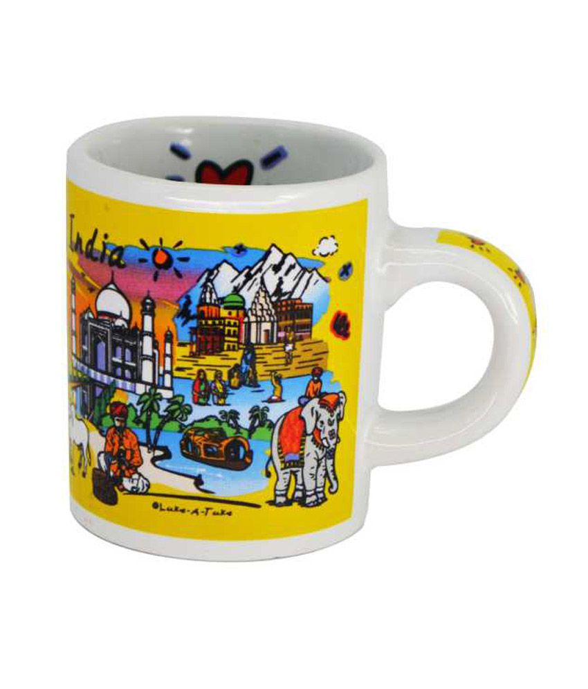 India Souvenirs 4 OZ India Subway Mug