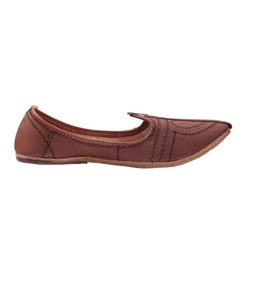 fcf6243d1409d Paduki Brown Leather Ethnic Men's Footwear Paduki Brown Leather Ethnic Men's  Footwear ...