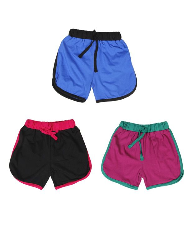 Robinbosky Desirable Multicolour Pack of 3 Shorts For Kids