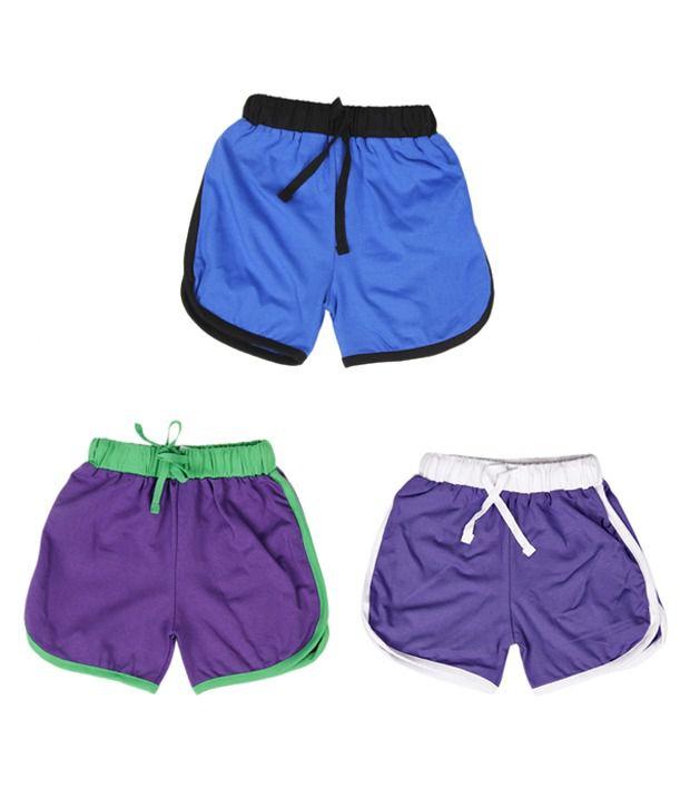 Robinbosky Dressy Multicolour Pack of 3 Shorts For Kids