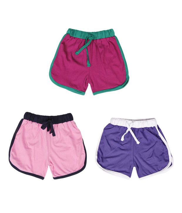 Robinbosky Magnificent Multicolour Pack of 3 Shorts For Kids