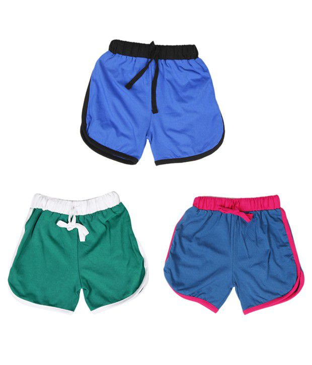 Robinbosky Mod Multicolour Pack of 3 Shorts For Kids