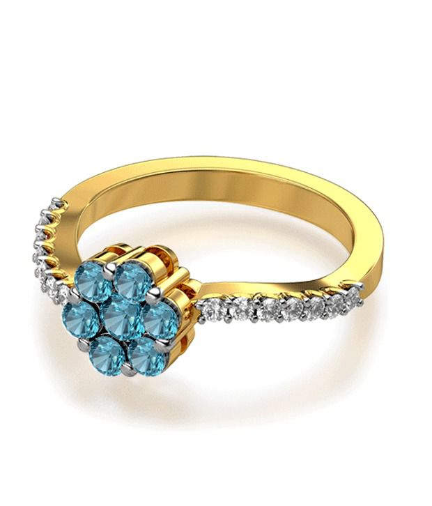 The Analeigh Seven Stone 18Kt Real Gold & Diamond Ring