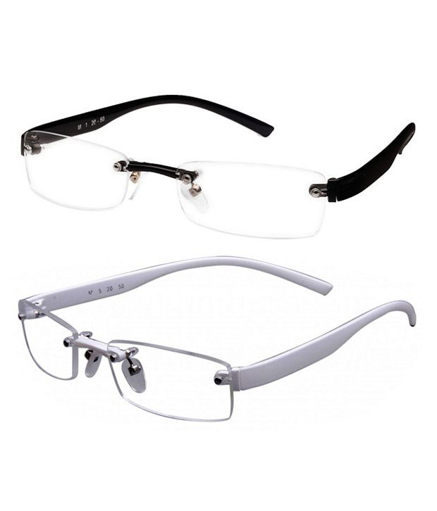 Zion White & Black Rimless Frames - Buy 1 Get 1