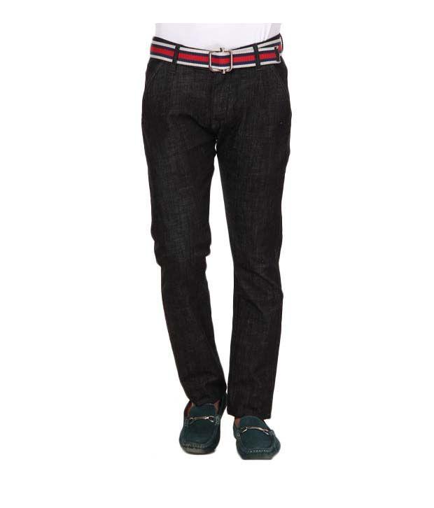 Design Roadies Black Lycra Jeans