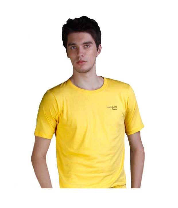 FREECULTR Primrose Yellow Slim  Fit T-Shirt