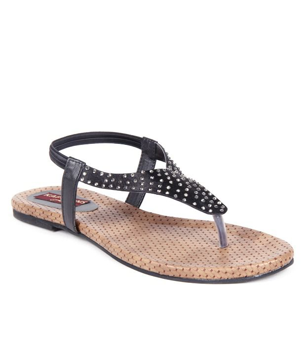 Feel It Appealing Black Sandals