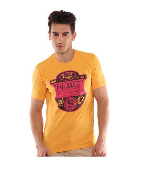 John Players Vibrant Yellow T-Shirt
