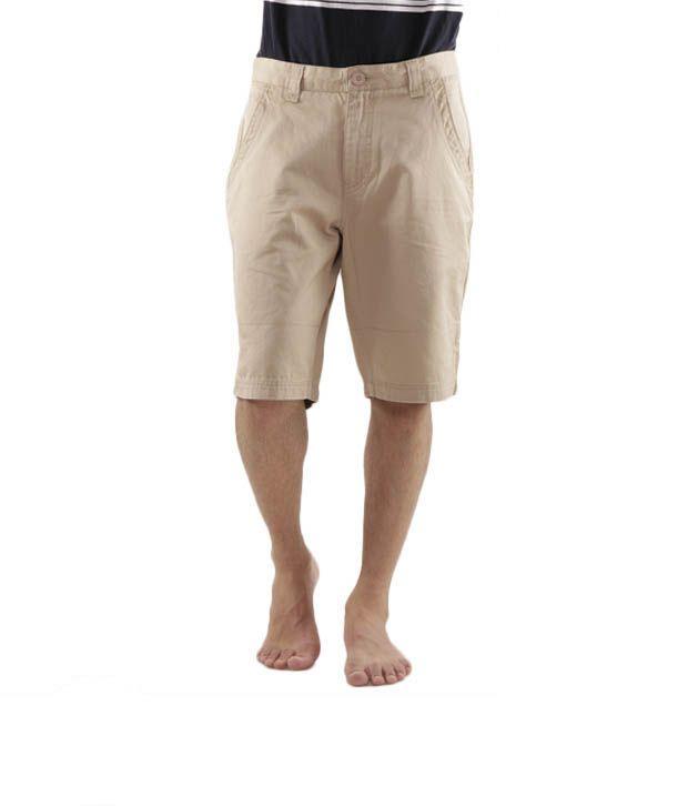Wills Lifestyle Cool Beige Bermuda Shorts