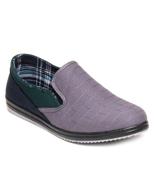 Action Gray \u0026 Black Canvas Shoes - Buy