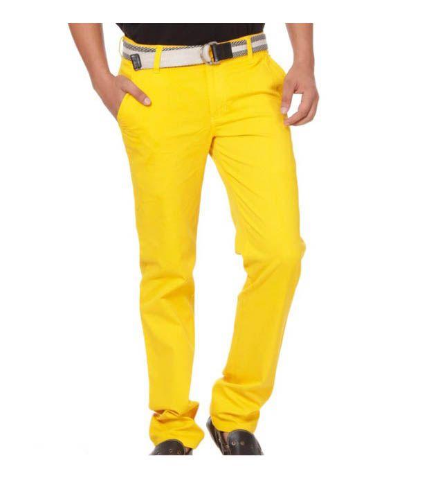 Harvest Golden Yellow Chinos with Free Earphones