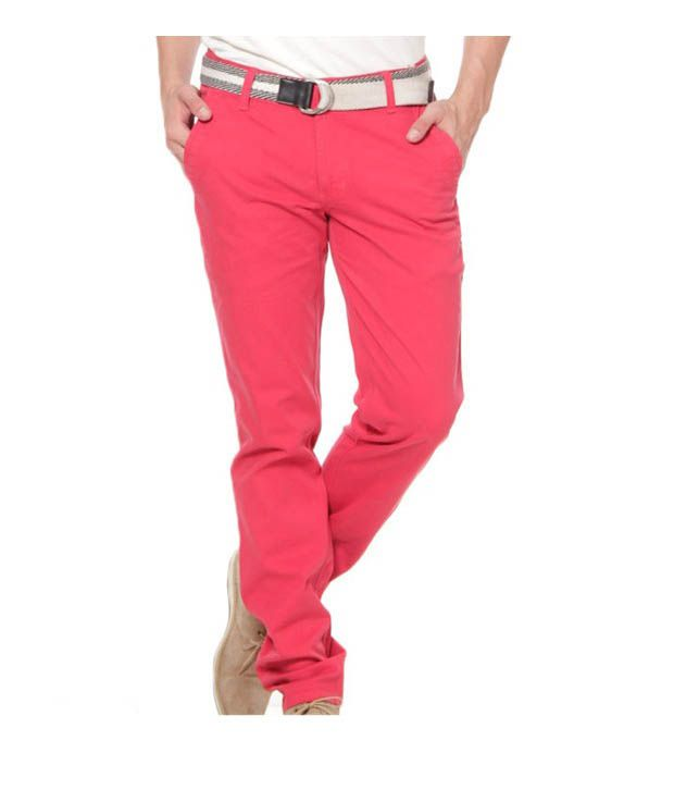 Harvest Sweet Pink Chinos with Free Earphones