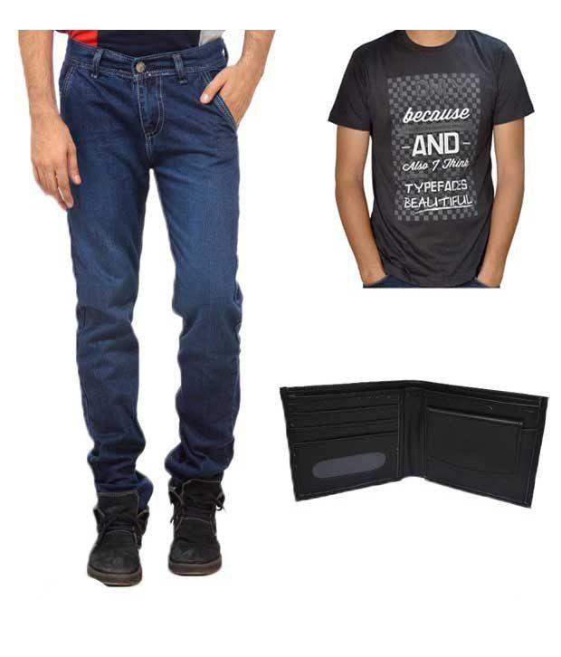 NX Elegant Light Blue Jeans With Freebies