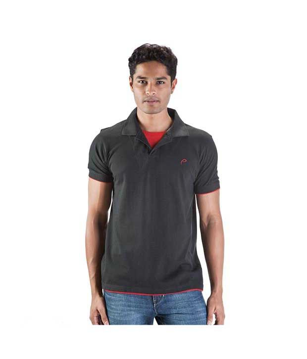 Proline Black Polo T Shirt