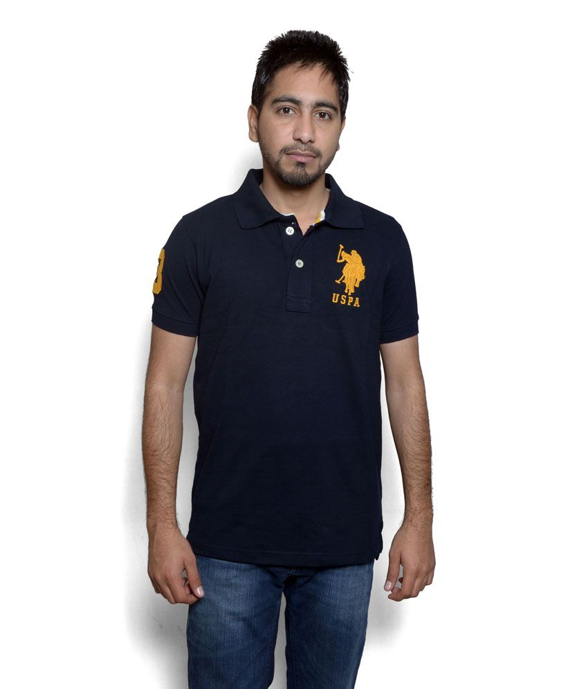 0311d9cb U.S. Polo Assn. Black T-Shirt - Buy U.S. Polo Assn. Black T-Shirt Online at  Low Price - Snapdeal.com