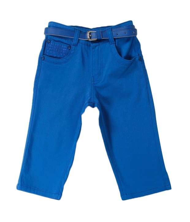 Vine Elegant Blue Capri For Kids
