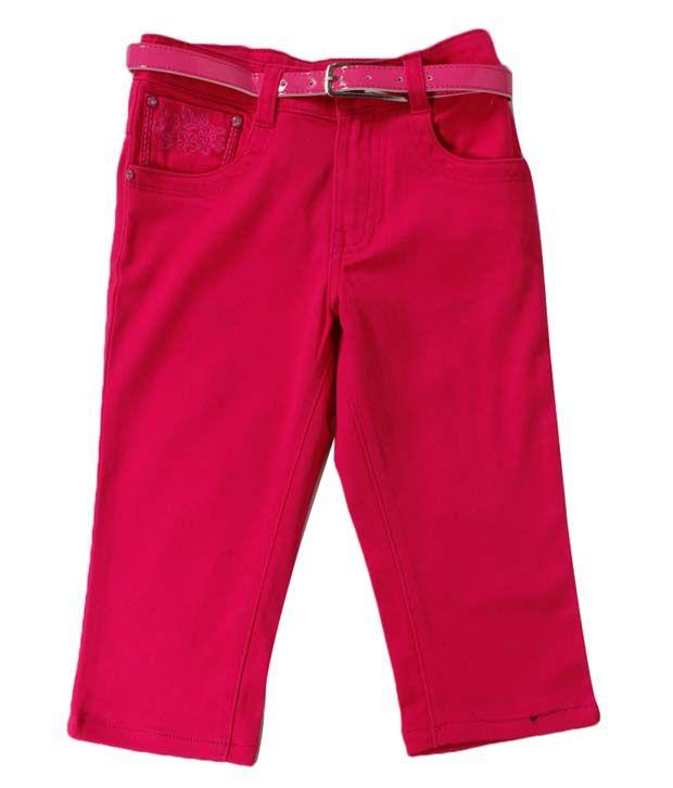 Vine Pink Capri For Kids