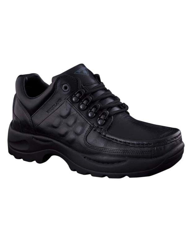 Woodland Black Men Shoes India
