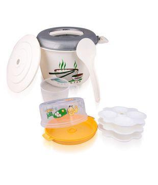 Nayasa Microwavable Idli Maker & Rice Cooker Set