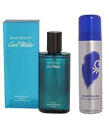 Davidoff Coolwater Deo Men 75 ml (Get Benetton Blu Deo Free)