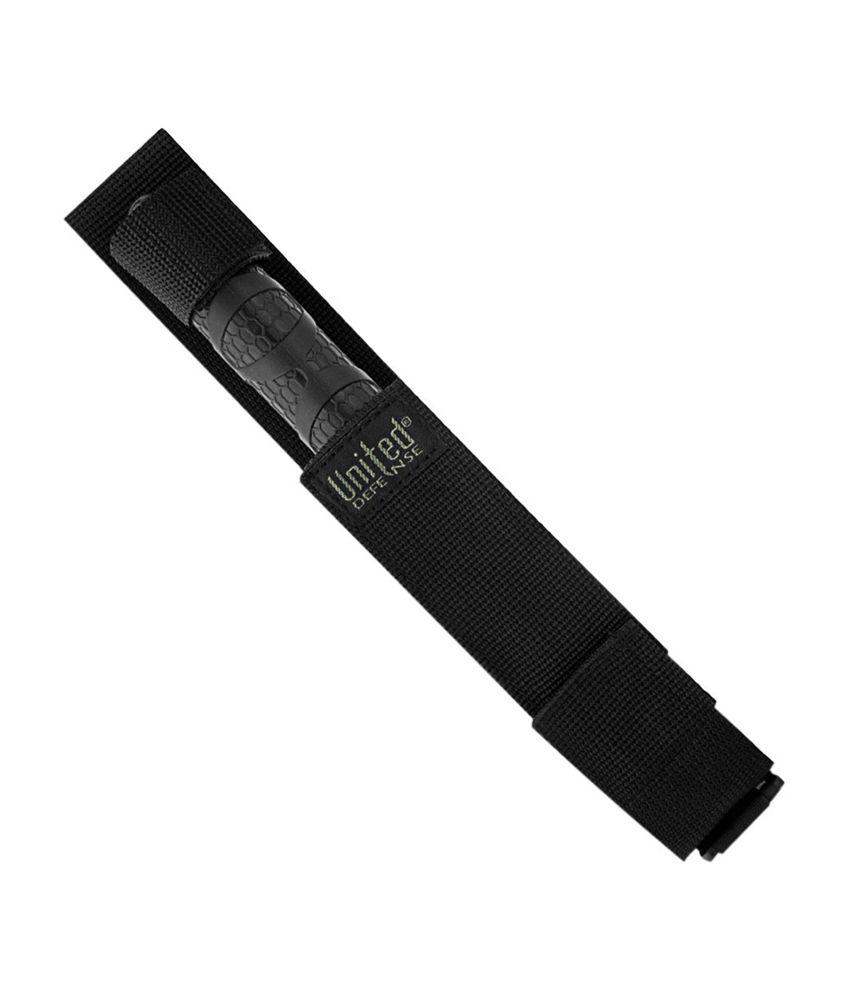 brand new 6e642 8bfa6 ... Knife India Heavy Duty Black Steel Expandable Baton with Ridged Grip ...