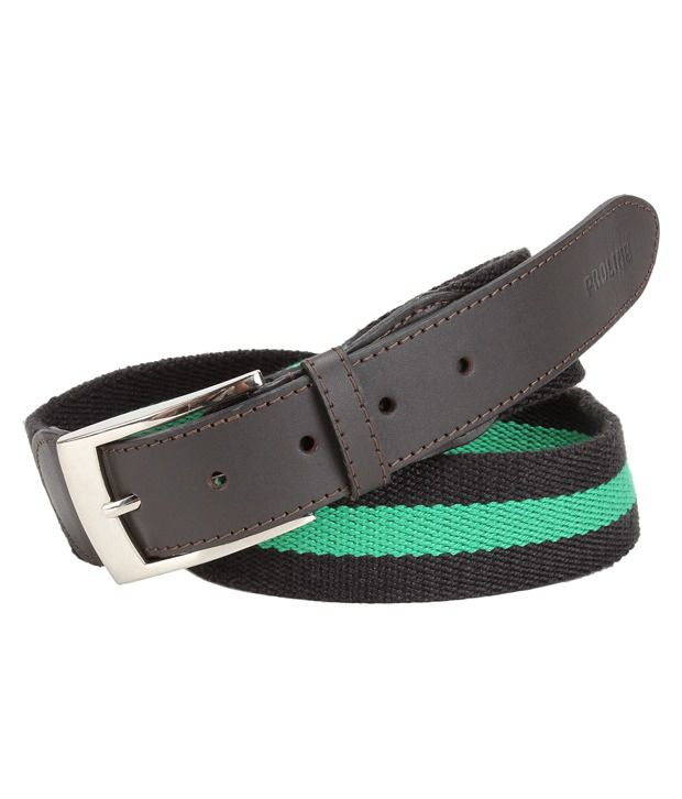 Proline Casual Green Belt For Men