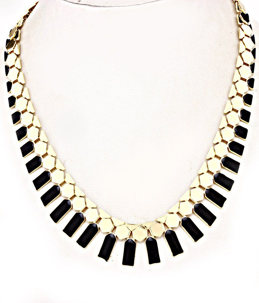 The Pari Black and Gold Necklace Set