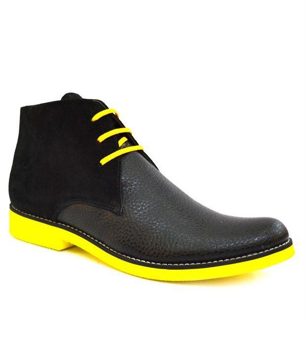 Zoot24 Voguish Black And Yellow Boot
