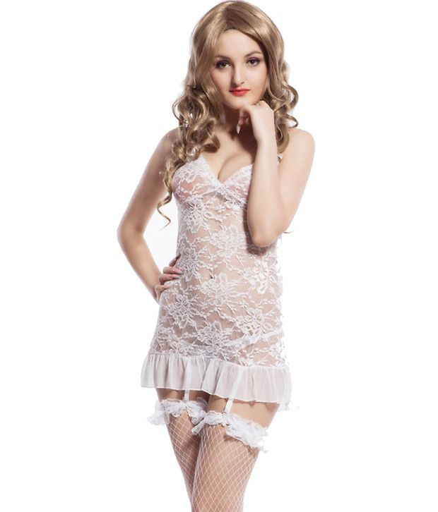 Buy Nitein White Others Short Baby Doll Dresses line at