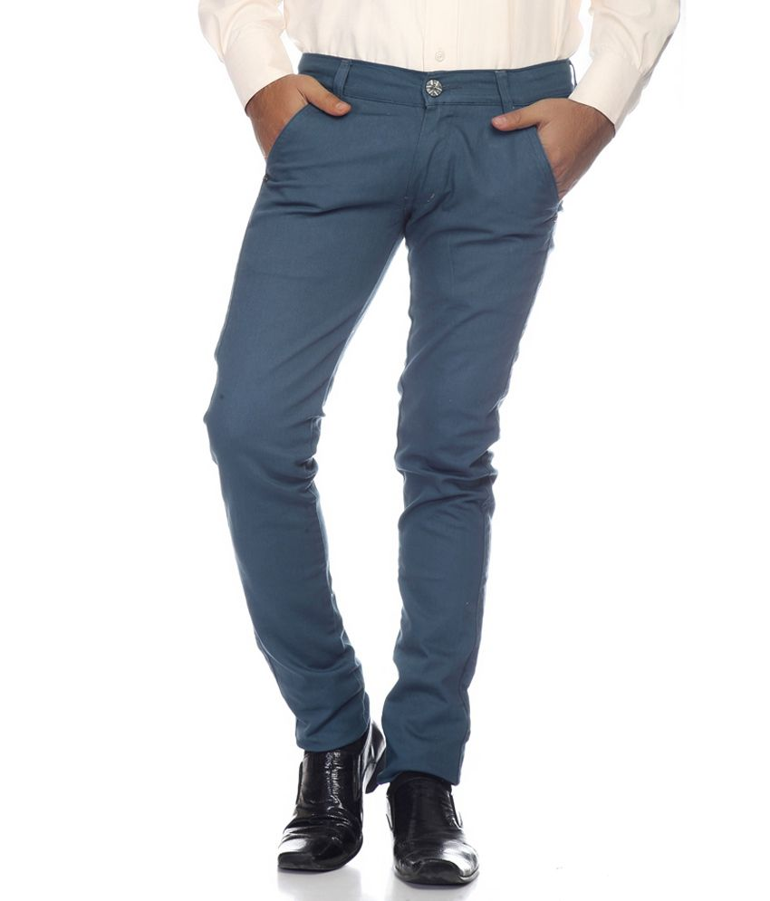 Coaster Turquoise Slim Casuals Chinos