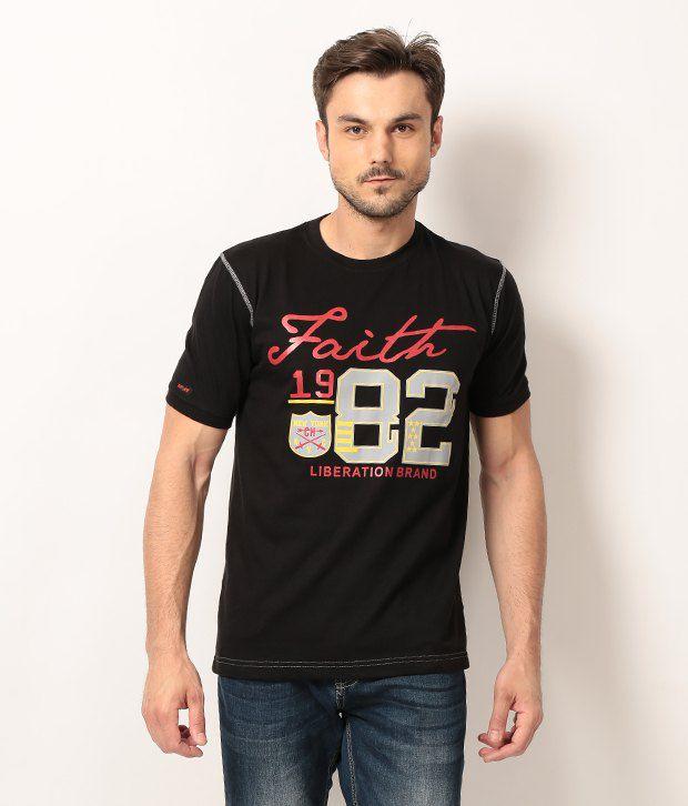 M&W Black Half Cotton Round  T-Shirt