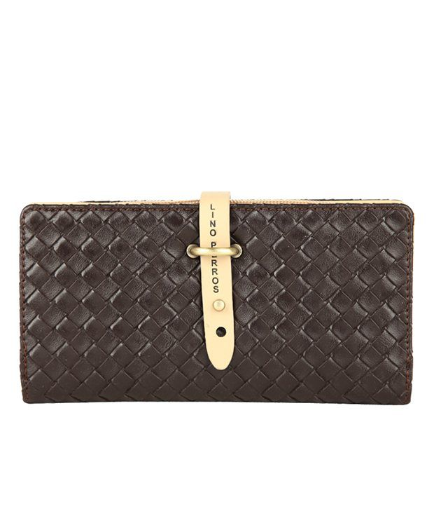 Lino Perros Casual Brown Wallet For Women