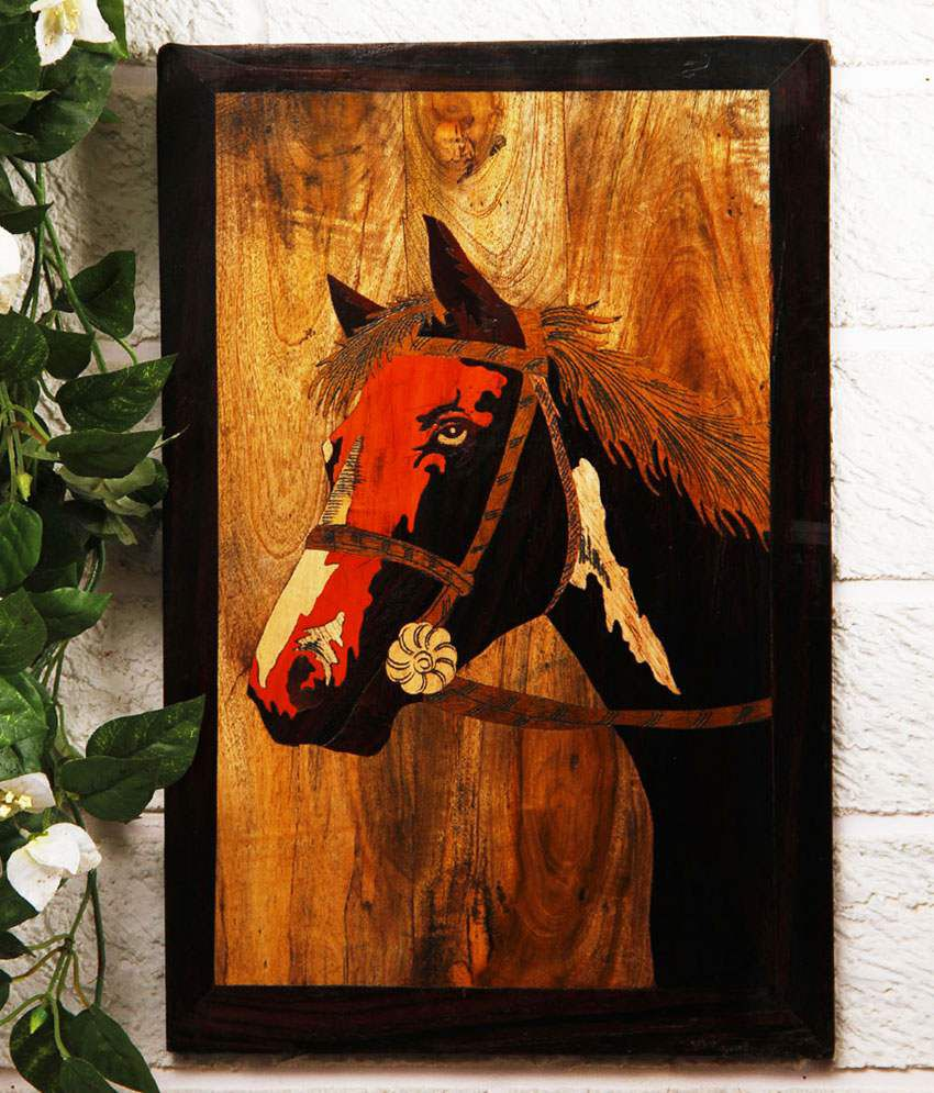 Unravel India Multi Wooden Animal Painting