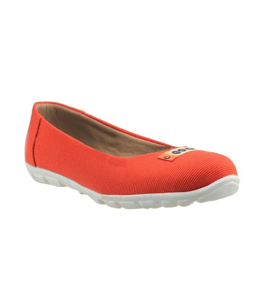 D'ziner Orange Ballerinas