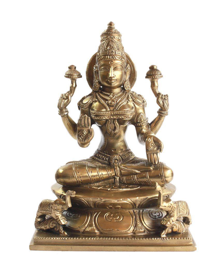 Vedanta Art Inc. Glossy Bronze Laxmi Idols